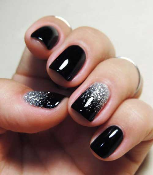 Dark Nail Color Design - 9.Dark Nail Color Design - Nail Art Designs 2017
