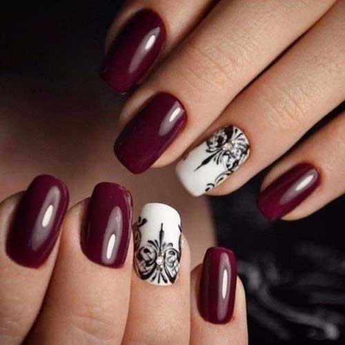 Dark Nail Color Designs