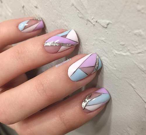 Geometric Nail Designs - Really Stylish Geometric Nail Designs