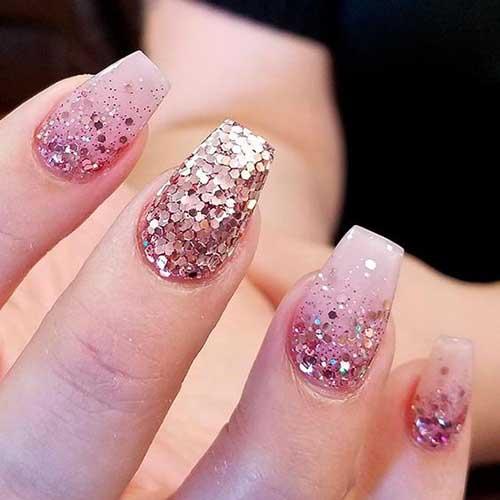Glittered Nail Art Nail Art Designs 2017