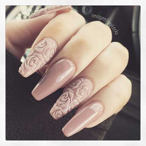 Nude Color Nail Arts