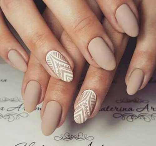 Pretty Ideas For Nude Colored Nail Designs