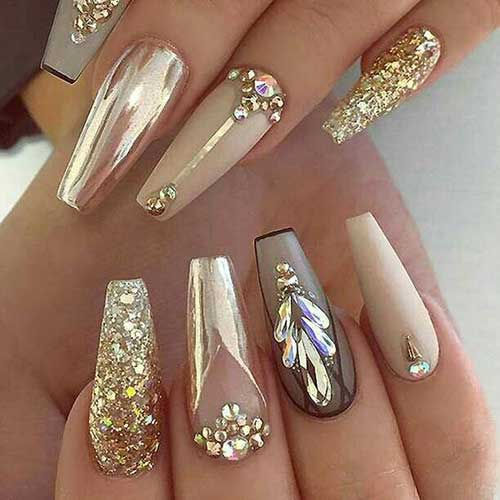 Golden Nail Designs-10