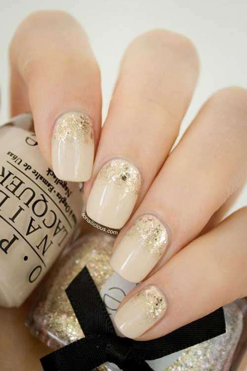Golden Nail Designs-11