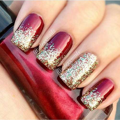 Golden Nail Designs-12