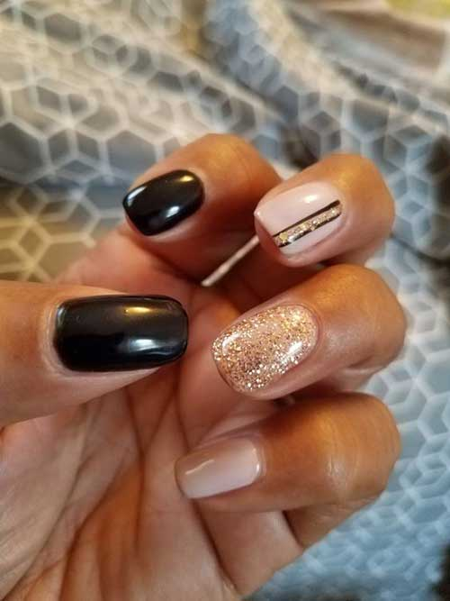 Golden Nail Designs-15