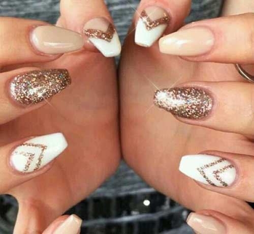 Golden Nail Designs-16