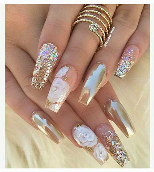 Golden Nail Designs-17