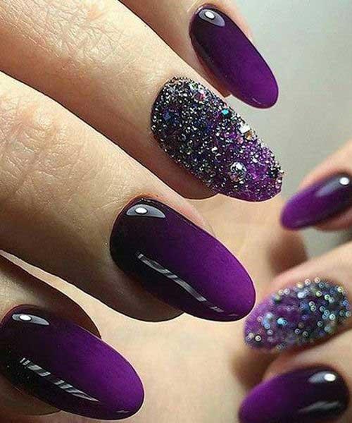 2017 Glittered Nail Designs