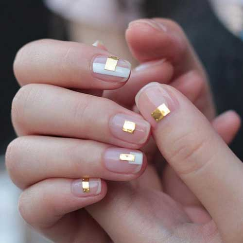 Golden Nail Designs-6