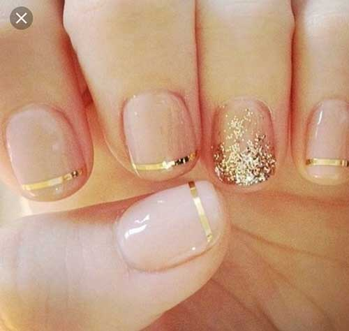 Golden Nail Designs-8