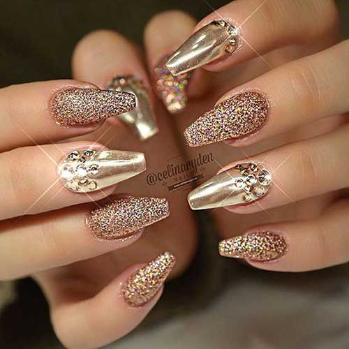 Best Golden Nail Designs