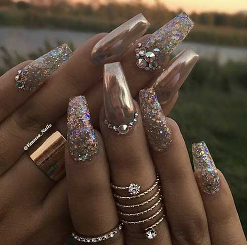 Golden Nail Designs