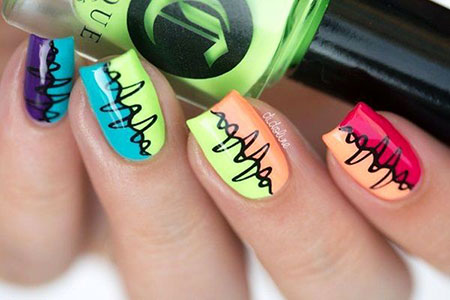 Short Nail Nail Halloween Frankenstein Easy : nail decorating ideas - www.pureclipart.com