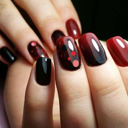 Red Nail, Nail, Art, Kiss, Design, Year, Simple, Pretty