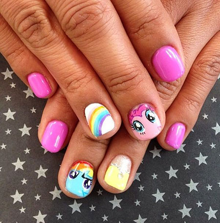 Little Pony Nail, Nail, Pony, Little, Art, Toe, Party, - 18 Nail Art Ideas For Kids - Nail Art Designs 2017