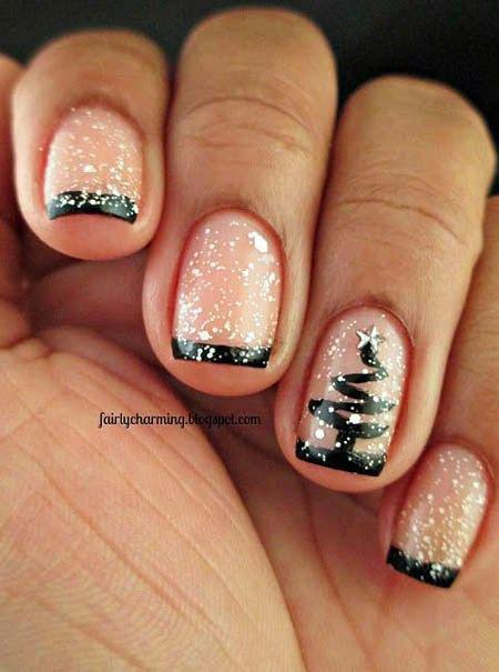 Christmas Tree Nail, Nail, Christmas, Tree, Glitter, Xmas