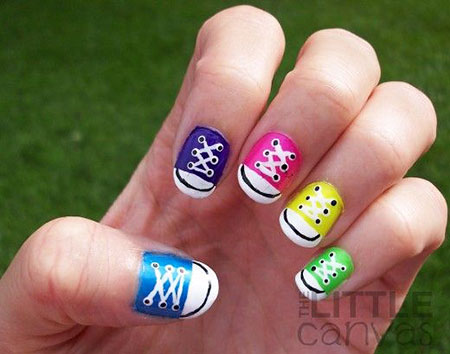 Converse Nail, Nail, withverse, Cute, Art, Spring, Short, Season, Paint