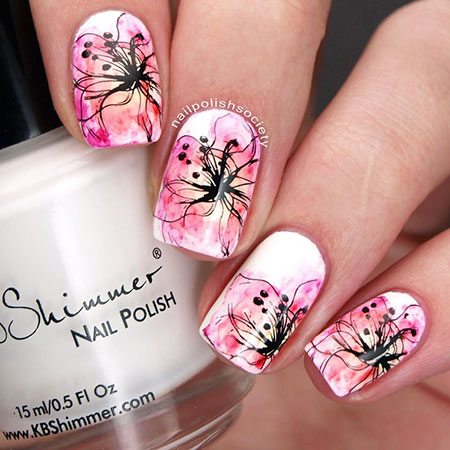 Floweral Nail, Nail, Art, Flowers, Floweral, Floral, Easy