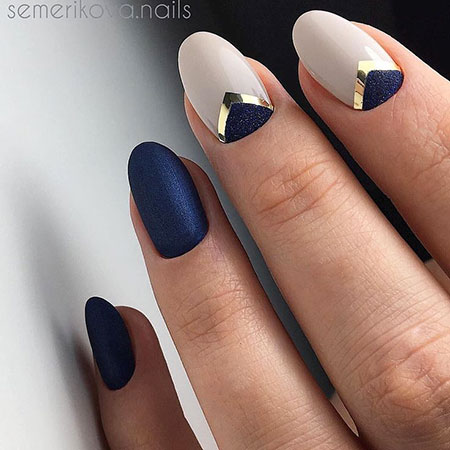 Blue Nail, Nail, Stiletto, Manicure, Design, Blue, Art
