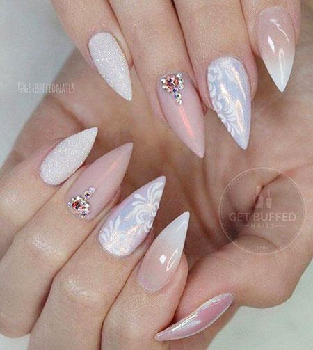 Almond Shaped, Nail, Almond, Manicure, White, Very