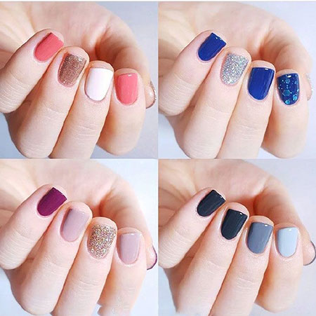 Color Combinations, Nail, Moon, Simple, Phases, Easy