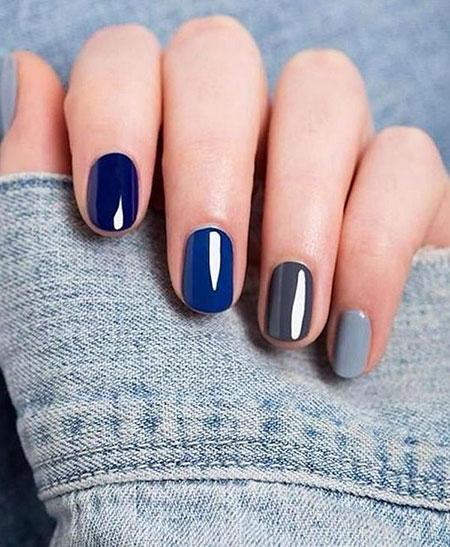 Blue Nail, Nail, Blue, Polish, Manicure, Fall, Essie, Design