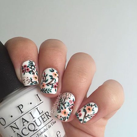 Easy Nail, Nail, Art, Flower, Floral, Easy, Design, Crazy