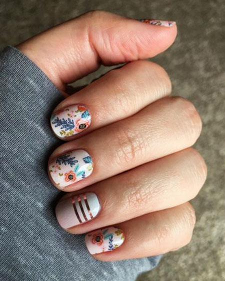 Colorful Nail, Nail, Jamberry, Art, Pink, Over, Design
