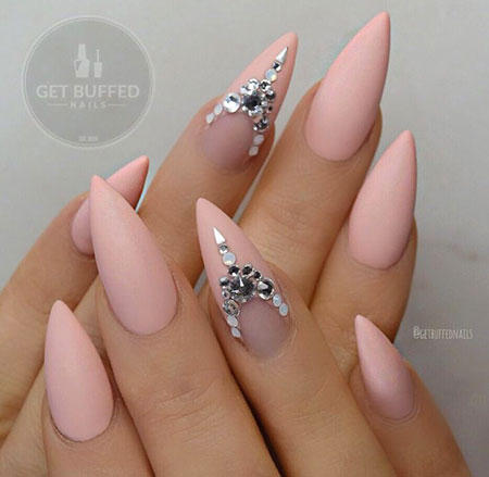 Matte Nails, Nail, Stiletto, Ring, Matte, Design, Art, Almond - 25 Popular Ring Finger Nail Art Designs - Nail Art Designs 2017