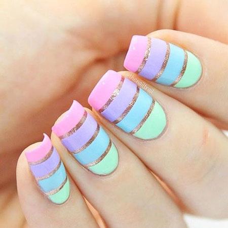 Cute Easy Nail, Nail, Easy, Cute, Art, Toes, Pastel, Design