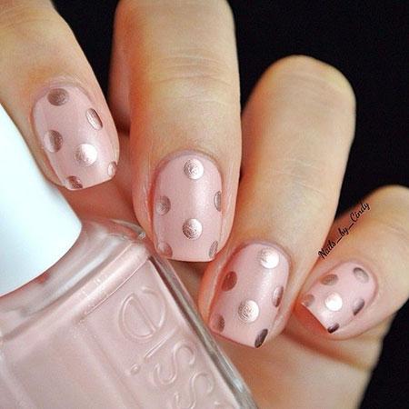 Polka Dot, Nail, Polka, Dot, Dots, Ring, Pink, Manicure