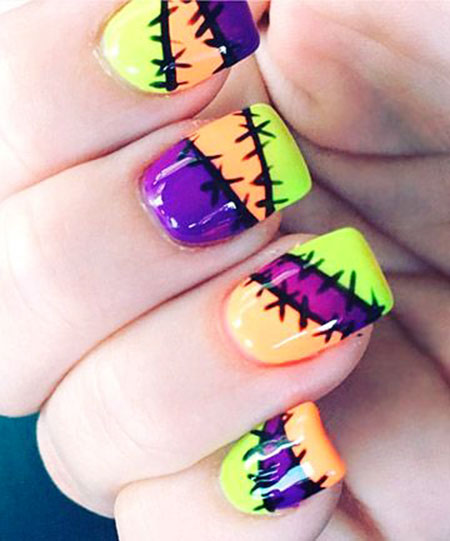 Halloween Nail, Nail, Halloween, Cute, Art, Summer, Scary, Neon