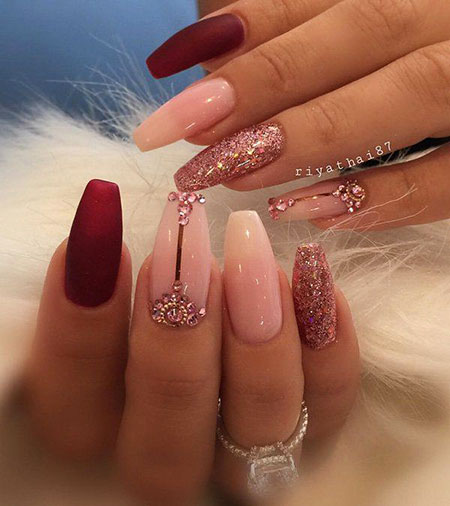 Coffin Nail, Nail, Coffin, Very, Special, Rhinestone, Matte