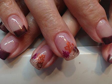 Ring Finger Nail Art Designs, Nail, Gel, Fall, Autumn, Ring