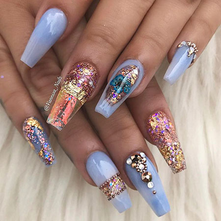 Pretty Nail, Nail, Simple, Really, Pretty, Pastel, Design, Blue, Art