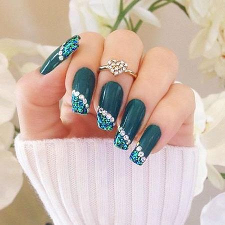 Diamond Nail Art, Nail, Art, Glitter, Diamond, Design, 207