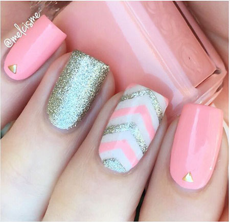 Cute Pink Nail, Nail, Pink, Cute, Art, White, Teens