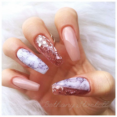 Nude Nail, Nail, Glitter, Nude, Encapsulated, Design