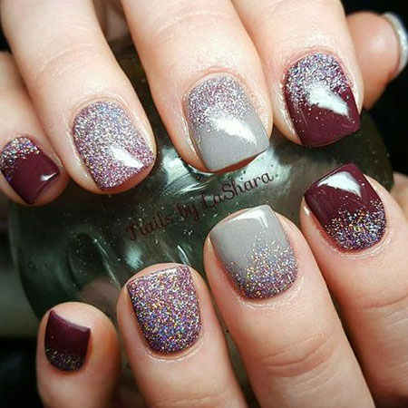 fall shellac nails - Shellac Nail Design Ideas