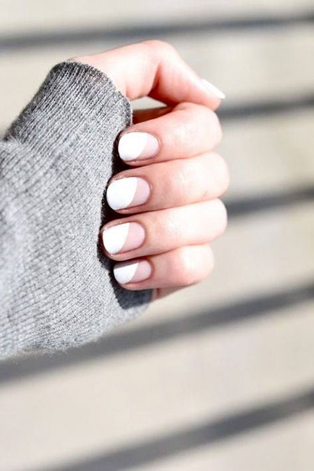 White Nail, Nail, White, Simple, Pretty, Manicure, Jamberry