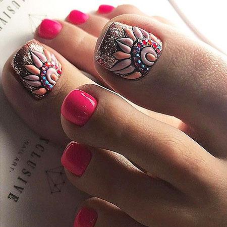 Nice Toenails, Nail, Art, Pretty, Manicure, Design