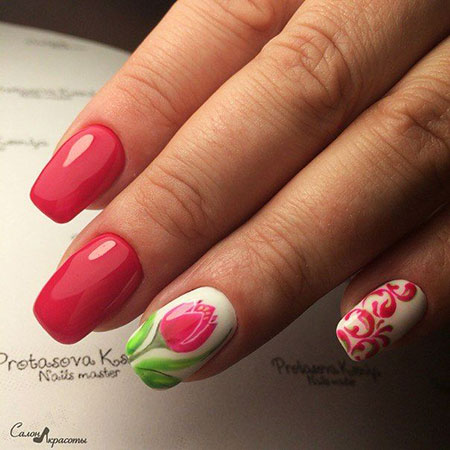 25 popular ring finger nail art designs nail art designs 2017 spring nail nail pink design art spring pale manicure prinsesfo Gallery