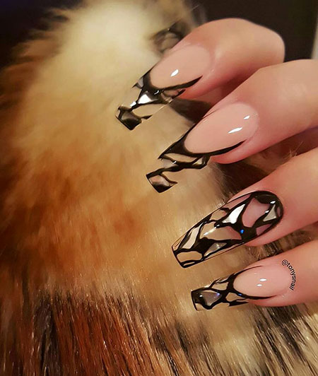 Gel Nail, Nail, Gel, Art, Stiletto, Design