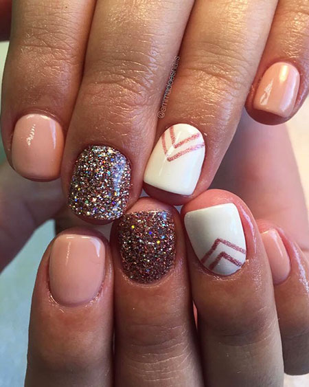 Glitter Nail, Nail, Glitter, Polish, Fall, Cute, Art, White