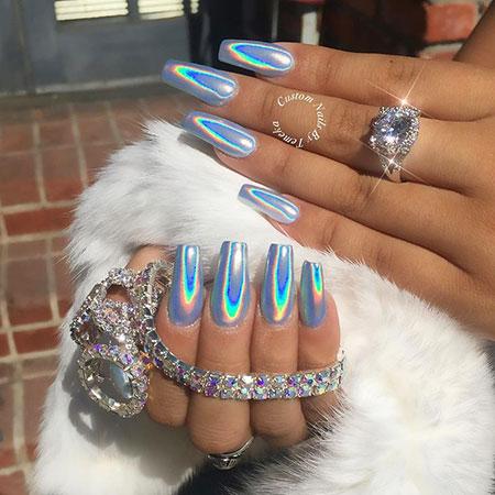 Nail, Holo, Design, Art