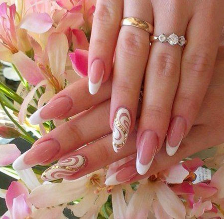French Manicure Designs, Nail, French, Bride, 207