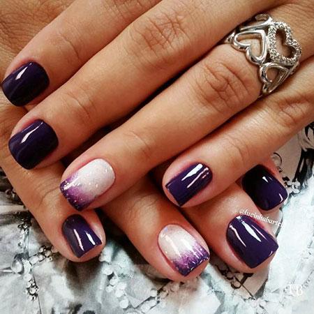 Dark Purple Nail, Nail, Purple, Dark, Manicure