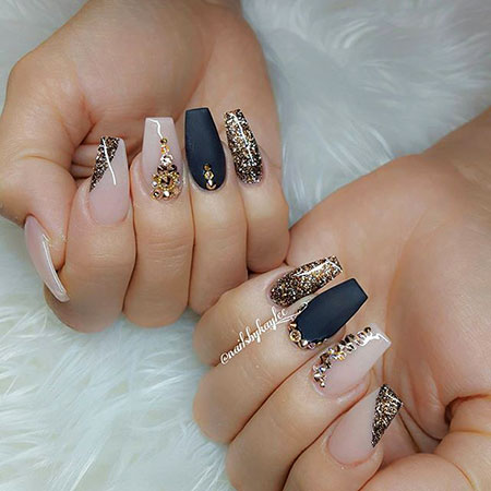Coffin Nail Art, Nail, Coffin, Polish, Design, Art