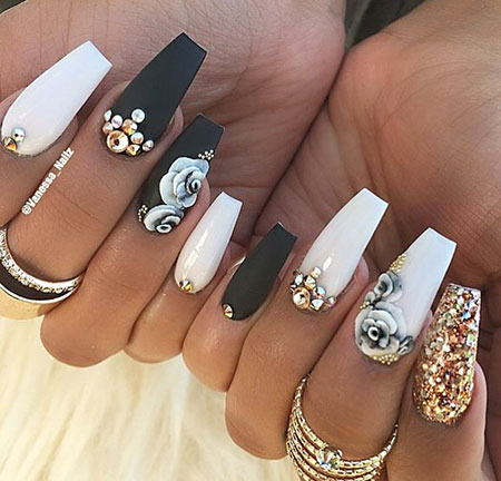 30 beautiful coffin nail art  nail art designs 2017